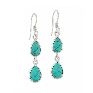 Twin Teardrop Turquoise Drop Earrings