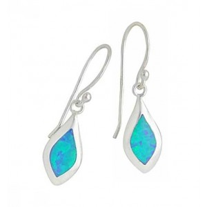 Small Marquise Blue Opal Drop Earrings