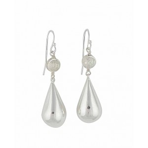 Silver Ball and Pear Drop Silver Earrings