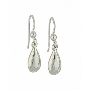 Pear Drop Small Silver Earrings