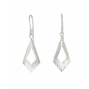 Cut out Geometry Silver Drop Earrings