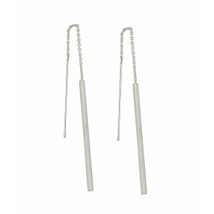 Sterling Silver Bar Pull Through Earrings