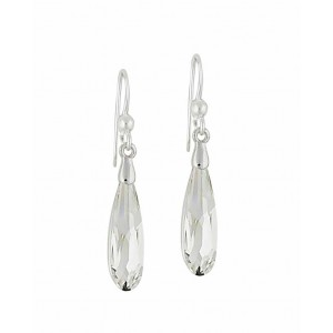 Clear Swarovski Crystal Silver Drop Earrings