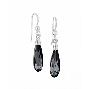 Silver Night Swarovski Crystal Silver Drop Earrings