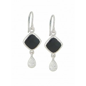 Onyx Lozenge Drop Earrings