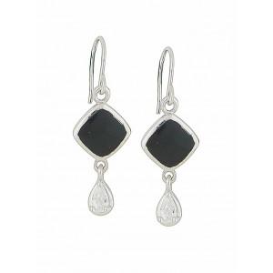 Onyx Lozenge Drop Earrings
