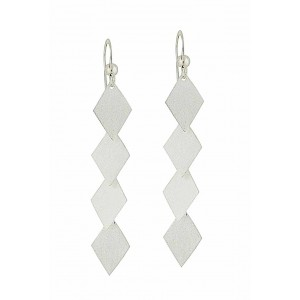 Quaternity Silver Drop Earrings