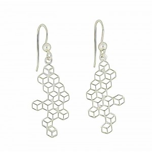 Connexions Silver Drop Earrings