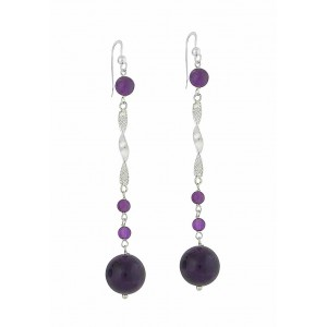 Amethyst Belle Drop Earrings