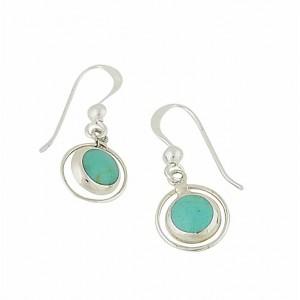Turquoise Embrace Drop Earrings