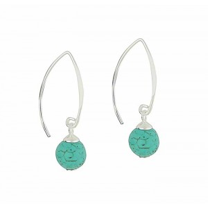 Turquoise Splendour Silver Drop Earrings