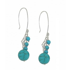 Turquoise Ascending Drop Earrings