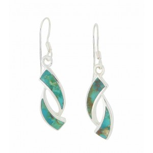 Obverse Turquoise Silver Drop Earrings