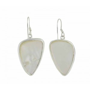 Plectrum Mother of Pearl Silver Earrings