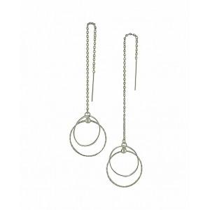 Spherical Suspension Silver Threader Earrings