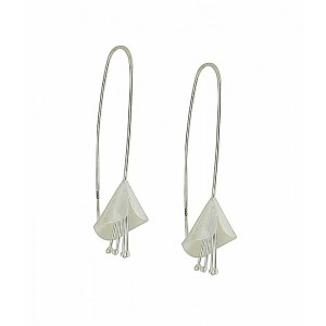 Lily Flower Sterling Silver Drop Earrings