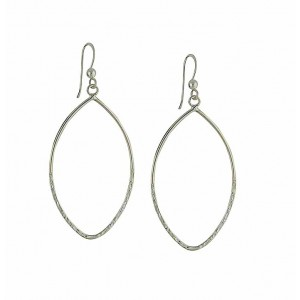 Openwork Arch Silver Dangle Earrings