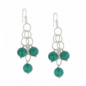 Turquoise Spherical Scatter Drop Earrings