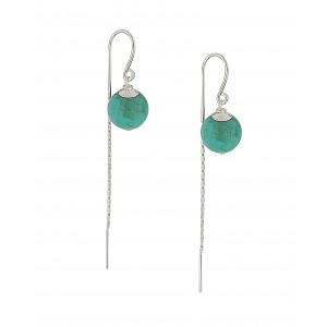 Turquoise Detail Bead Threader Earrings