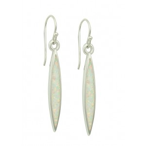 White Opal Slither Long Earrings