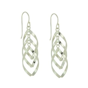 Tangle Trio Silver Drop Earrings