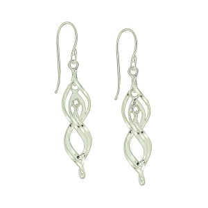 Circuitous Silver Earrings