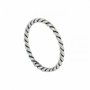 Rope Style Sterling Silver Stacking Ring