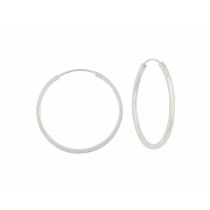 plain silver hoop earrings – 35mm