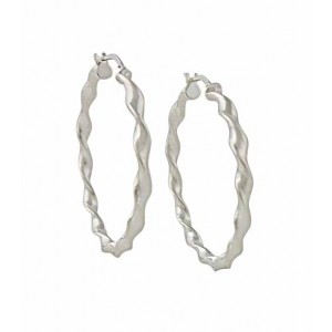 Twist Silver Hoop Earrings