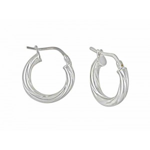 Small Silver Hoop Earrings - 15mm