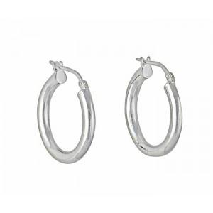 20mm Silver Hoop Earrings