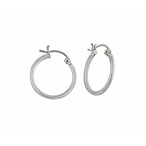 20mm Plain Silver Hoop Earrings