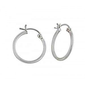 25mm Plain Silver Hoop Earrings