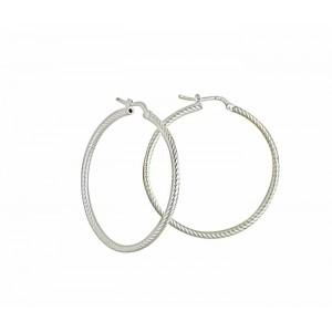 Large Silver Hoop Earrings 40mm