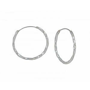 30mm Silver Hoop Earrings