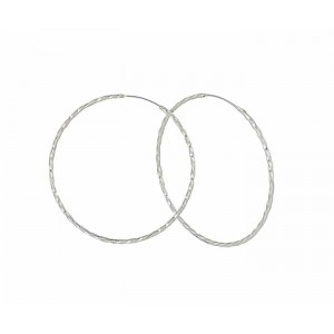 65mm Large Silver Hoop Earrigs