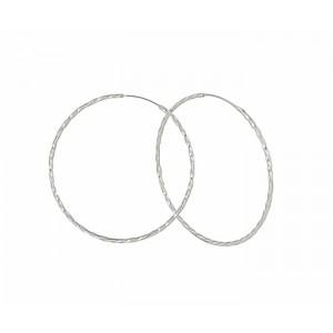 65mm Large Silver Hoop Earrigs