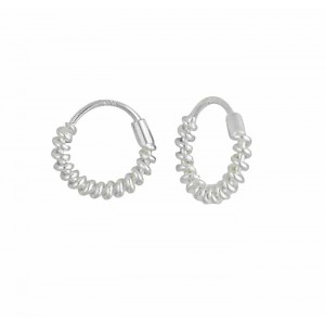 Twisted Sterling Silver Hoop Earrings - 18mm