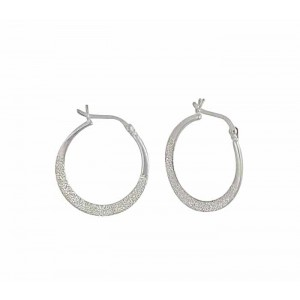 Sterling Silver Hoop Earrings - 22mm