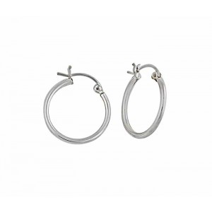 Silver Small Hoop Earrings - 22mm