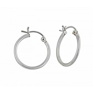 Sterling Silver Big Hoop Earrings - 40mm
