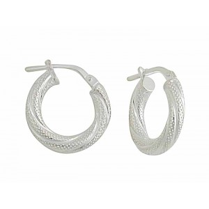 Twisted Small Creole Earrings - 16mm