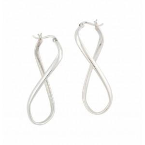 Figure of Eight Silver Hoop Earrings