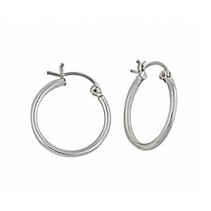 35mm Silver Hoops Earring