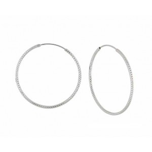 Extra Large Silver Hoop Earrings - 52mm | The Opal