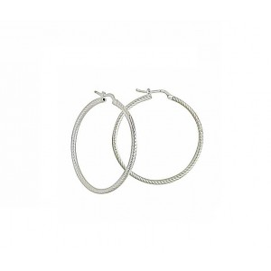 Sterling Silver Hoop Earrings 30mm