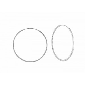 Large Silver Hoop Earrings - 50mm