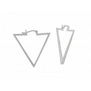 Triangular Creole Earrings