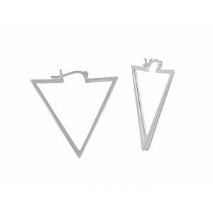 Triangular Creole Earrings