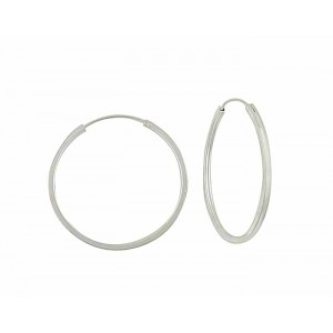 Large Silver Hoops - 40mm